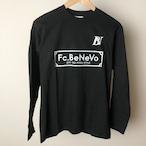 BV×Fc.BeNeVo STANDARD LOGO LONG SLEEVE-T (BLACK)