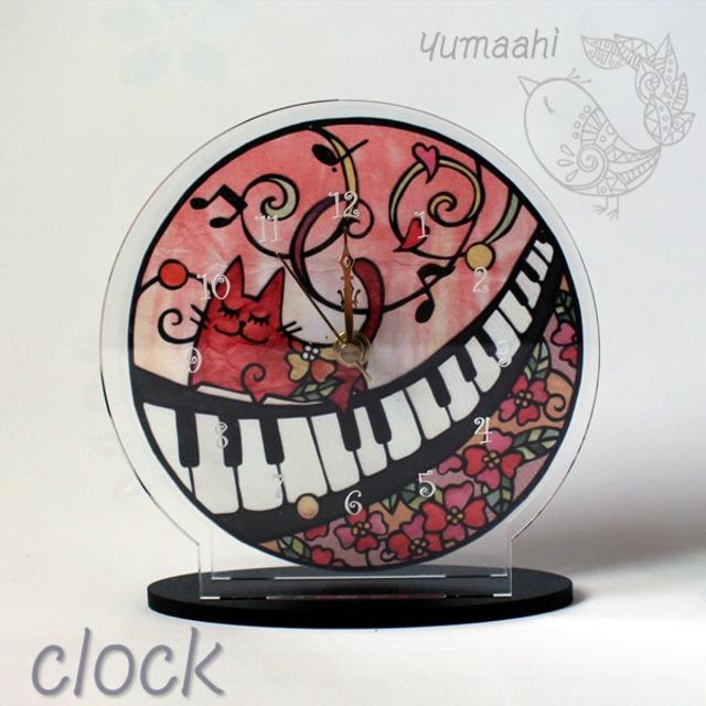 置時計 ねこ : 猫の音楽祭