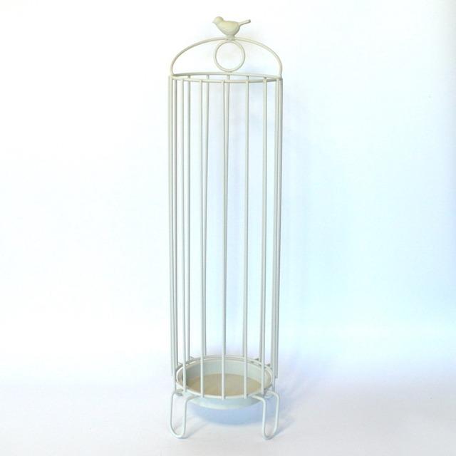 バード ラウンドアンブレラスタンド IV zu-201-iv ホワイト 白 おしゃれ 傘立て アイアン ナチュラル 小鳥 バード 鳥 シンプル