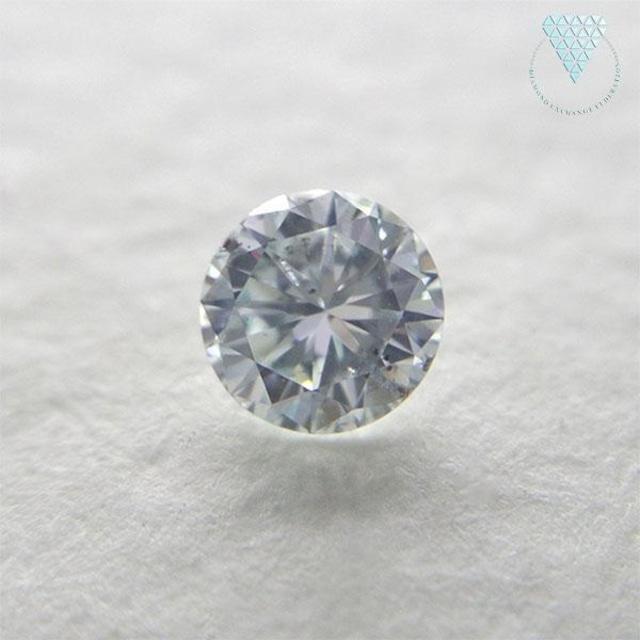 0.175 ct FANCY LIGHT GREENISH BLUE SI2  ラウンド CGL 天然 グリニッシュ ブルー ダイヤモンド