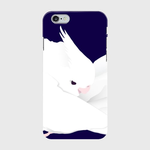 iPhoneケース もふもふオカメインコ ホワイトフェイスルチノー【各機種対応】