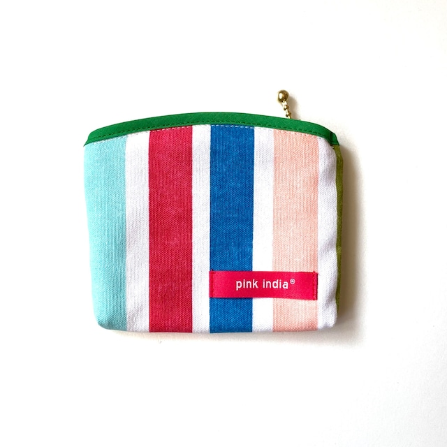 北欧デザイン ティッシュケース付ポーチ   summer stripe