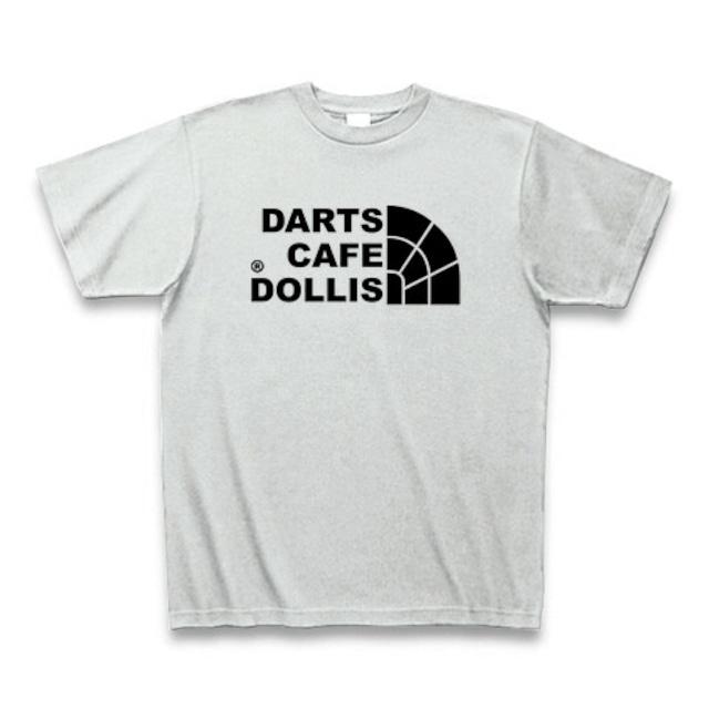 DOLLiSフェイスロゴTシャツ(灰/黒)