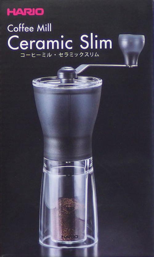 ハリオ コーヒーミル・セラミックスリム MSS-1TB 24g(1~2杯用)