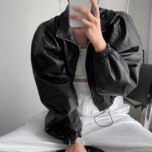 9604レディース レザージャケット 黒 革ジャケット ショート丈 ライダースジャケット 革ジャン