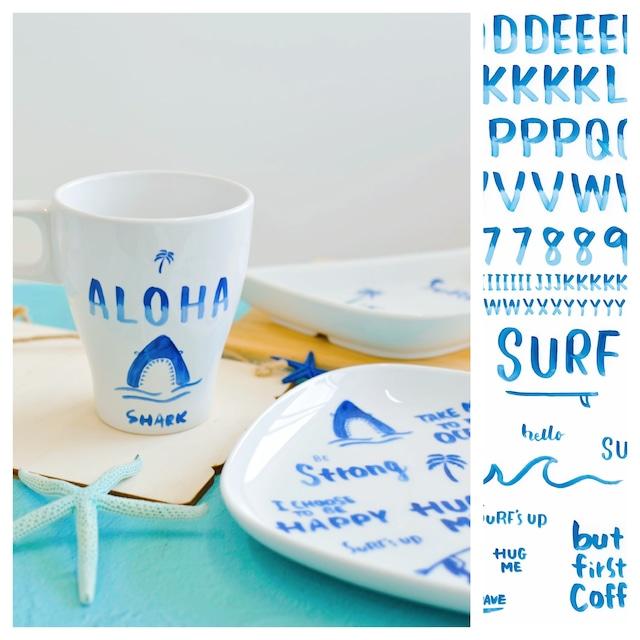 アルファベット Blue Sufe【milo clips】