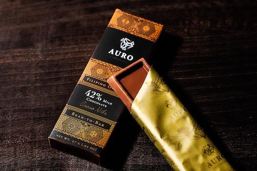 42%ミルクチョコレートカカオニブ入り(27g Bar)