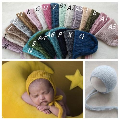 シンプルモヘア帽子♡全20色
