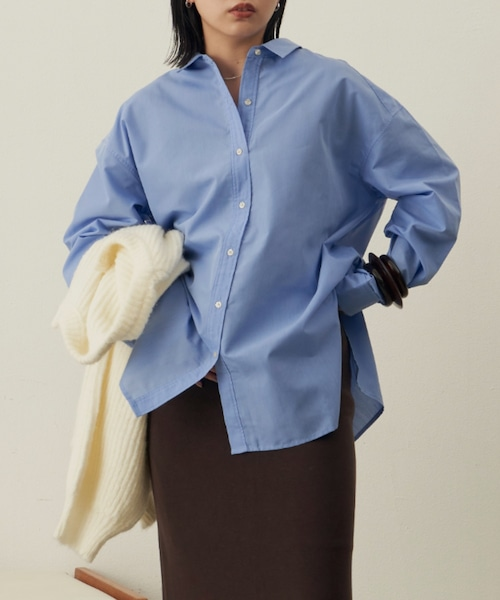 オーバーサイズシャツ/SBLU