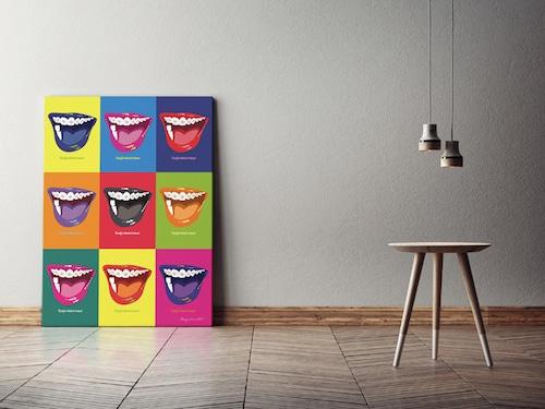 Orthodontic(Color)キャンバスプリント(B2サイズ・木製パネル貼り)