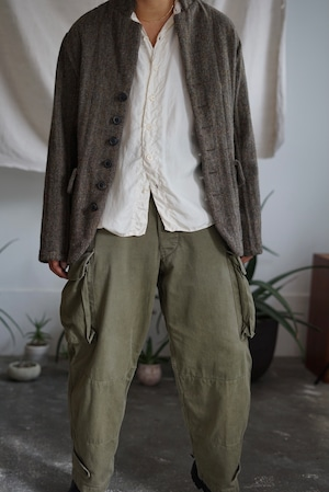 <STYLING> ⇨ Vincent Jalbert - Washed Herringbone Tweed 6 Buttons Jacket