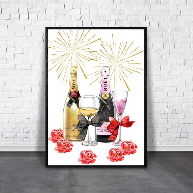 Champagne / 【アートポスター専門店 Aroma of Paris】[AP-000177]
