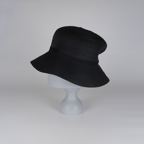 SS21-BD-5 Paper Braid Rollable Hat - BLK/BLK