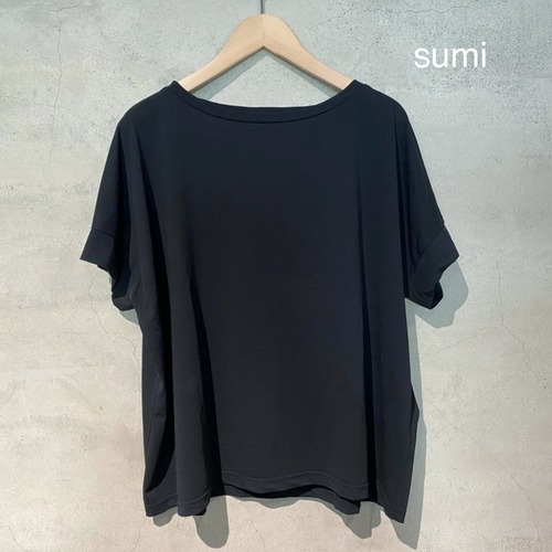 【evam eva】cut&sew short sleeve pullover/E211C138