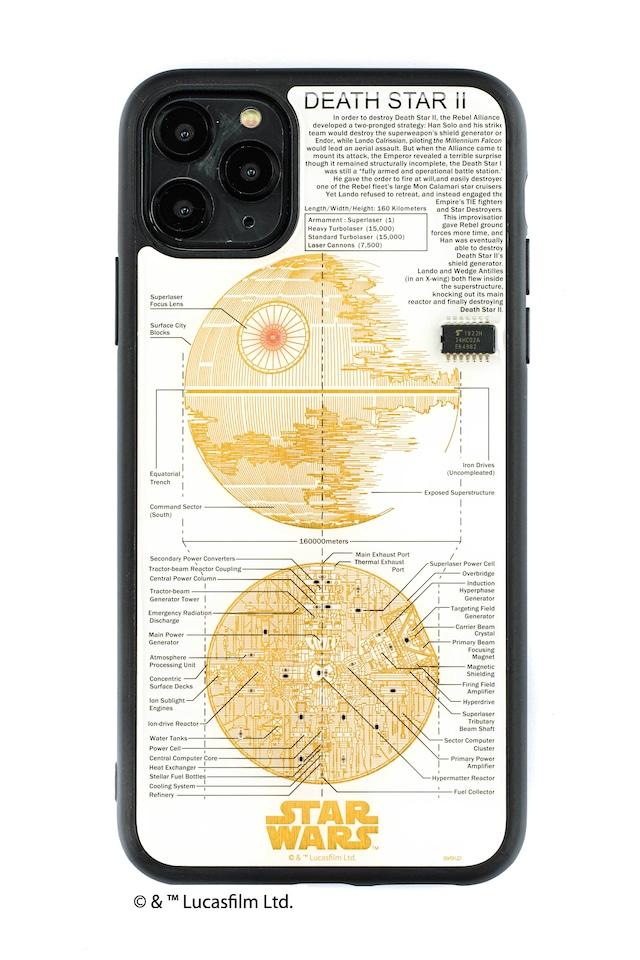FLASH DEATH STAR 基板アート iPhone 11 Pro Max ケース  白【東京回路線図A5クリアファイルをプレゼント】