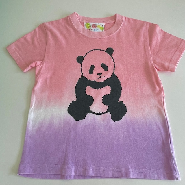 kidsTシャツ120cm「パンダ 段染め」120-210918-4