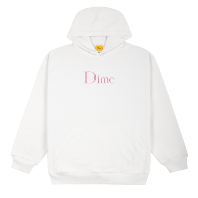 DIME CLASSIC EMBROIDERED HOODIE WHTE