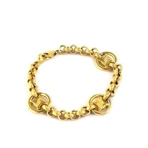 CELINE セリーヌ トリオンフ ブラゾン ブレスレット ゴールド vintage ヴィンテージ オールドセリーヌ Accessories eh6yn6