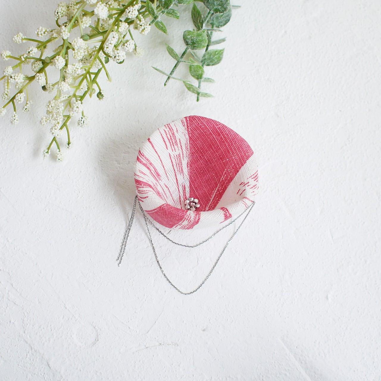 麻のコサージュ 〈Asagao〉Pink