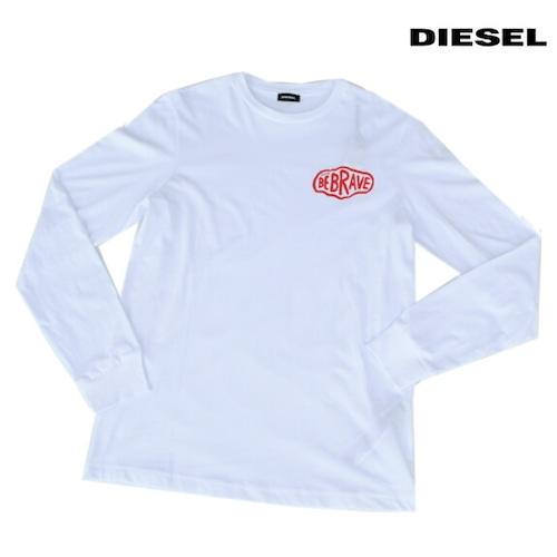 DIESEL ディーゼル Tシャツ 長袖 プリント Tシャツ ロンT メンズ T-DIEGO-LS-K24 WHITE 2021年秋冬モデル