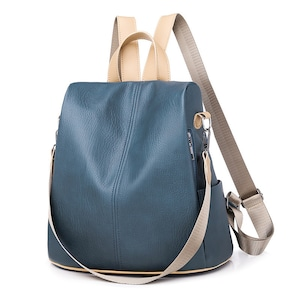 レディースリュック ファッション感 たっぷりバック 通学バッグ 旅行リュックサック 肩掛けバッグ カジュアルショルダーバッグ PUレザー 5807