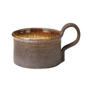 信楽焼 へちもん スープ マグ 約360ml ブラウンタグ MR-3-3316