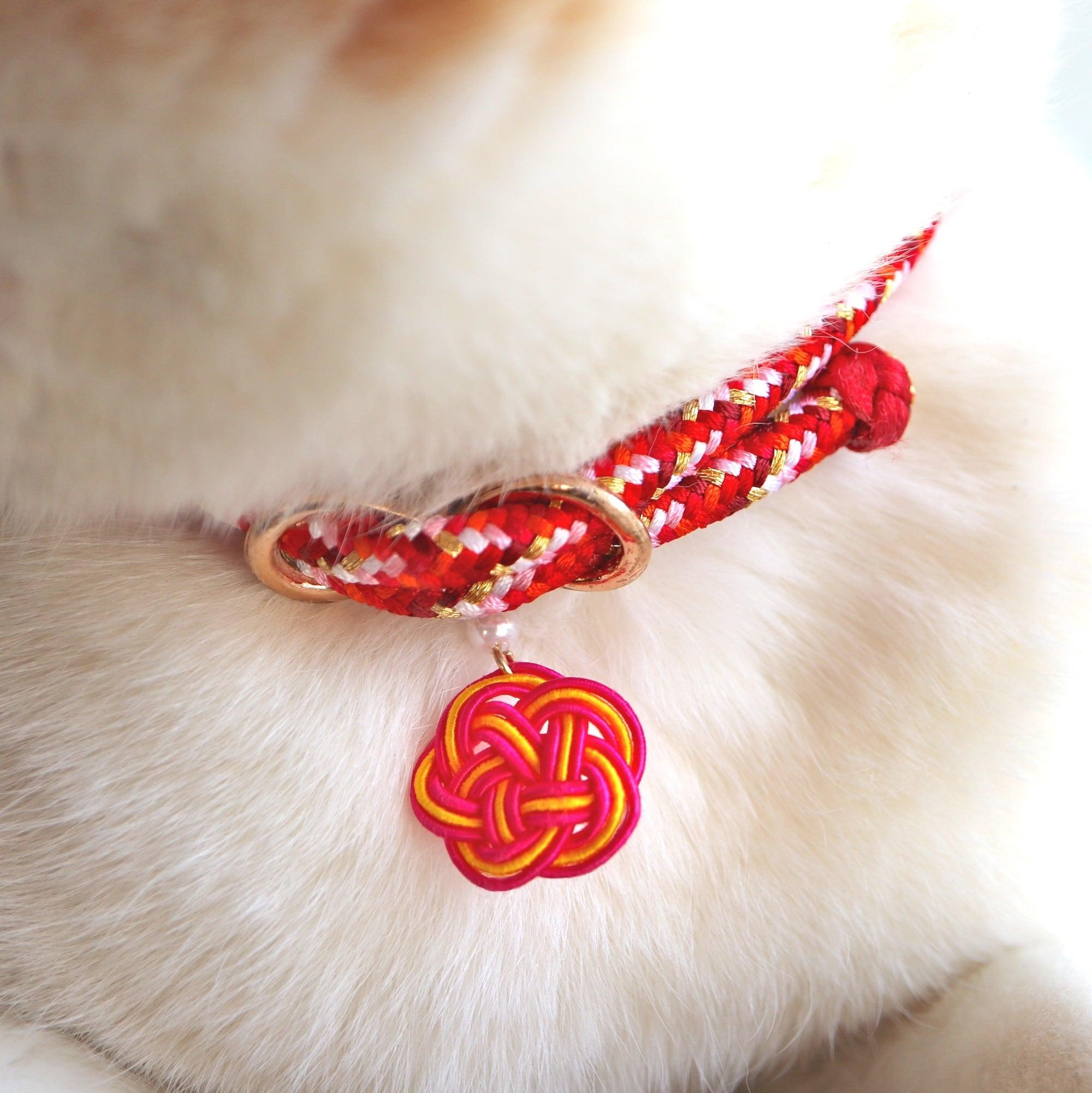 【猫首輪】唐打ち ローズ