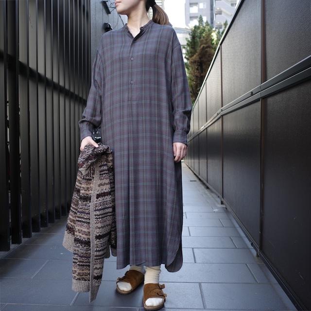 LENO(リノ)BAND COLLAR PULLOVER DRESS