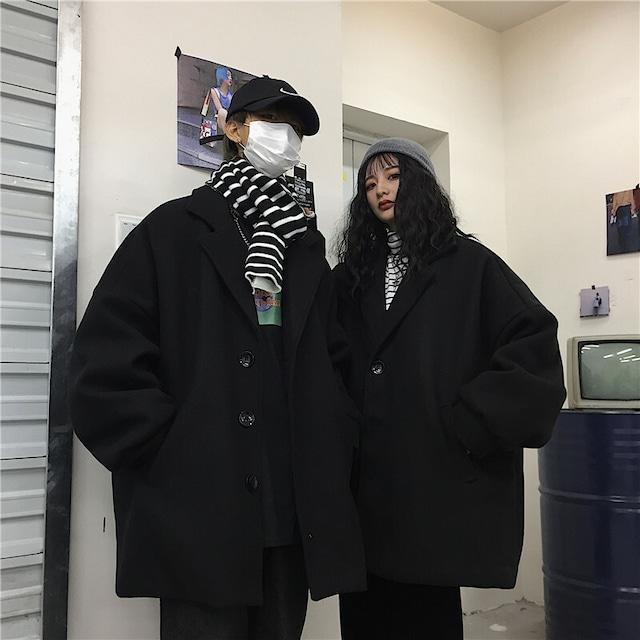 【アウター】韓国ストリート系暗黒系ペアルックトレロコート42914087
