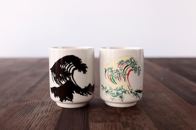『3J028-14B』『温感湯呑』『 北斎 』 *お茶 演出 インスタ映え 感動 茶 贈り物 誕生日 プレゼント