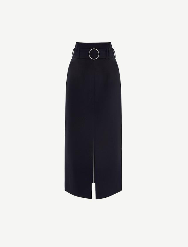 Wool Wide Skirt
