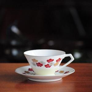 日陶 日本陶器会社 ノリタケ Vintage Noritake Cup and Saucer 梅