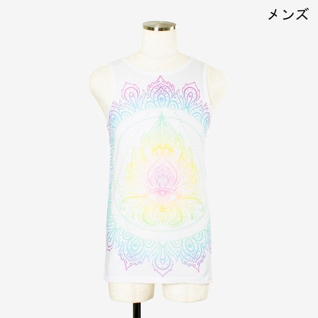 ヨガプリントタンク チャクラカラー メンズ/ユニ Men's Yoga Print tank top Chakra Color