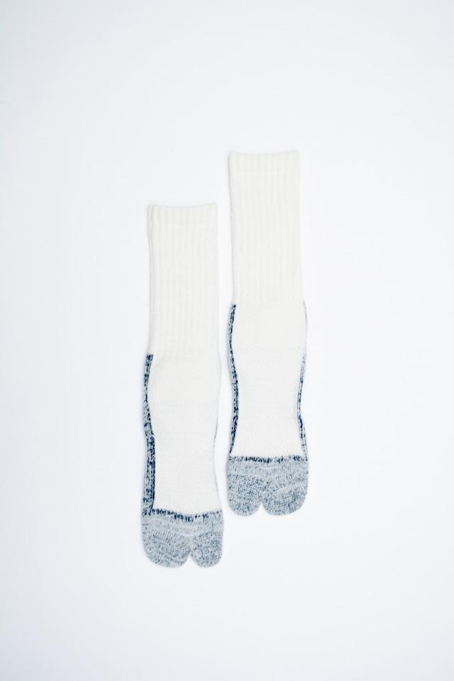 84N Wool Long  Socks (White)