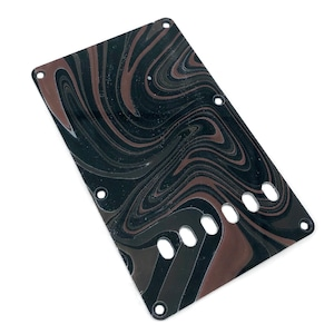 VARIOUS MARBLEIZED PICK GUARD SERIES - ST-type  Only One Design - ギター用マーブルバックプレート stba1-4