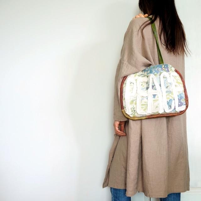 布と革のバッグ Bag-0131