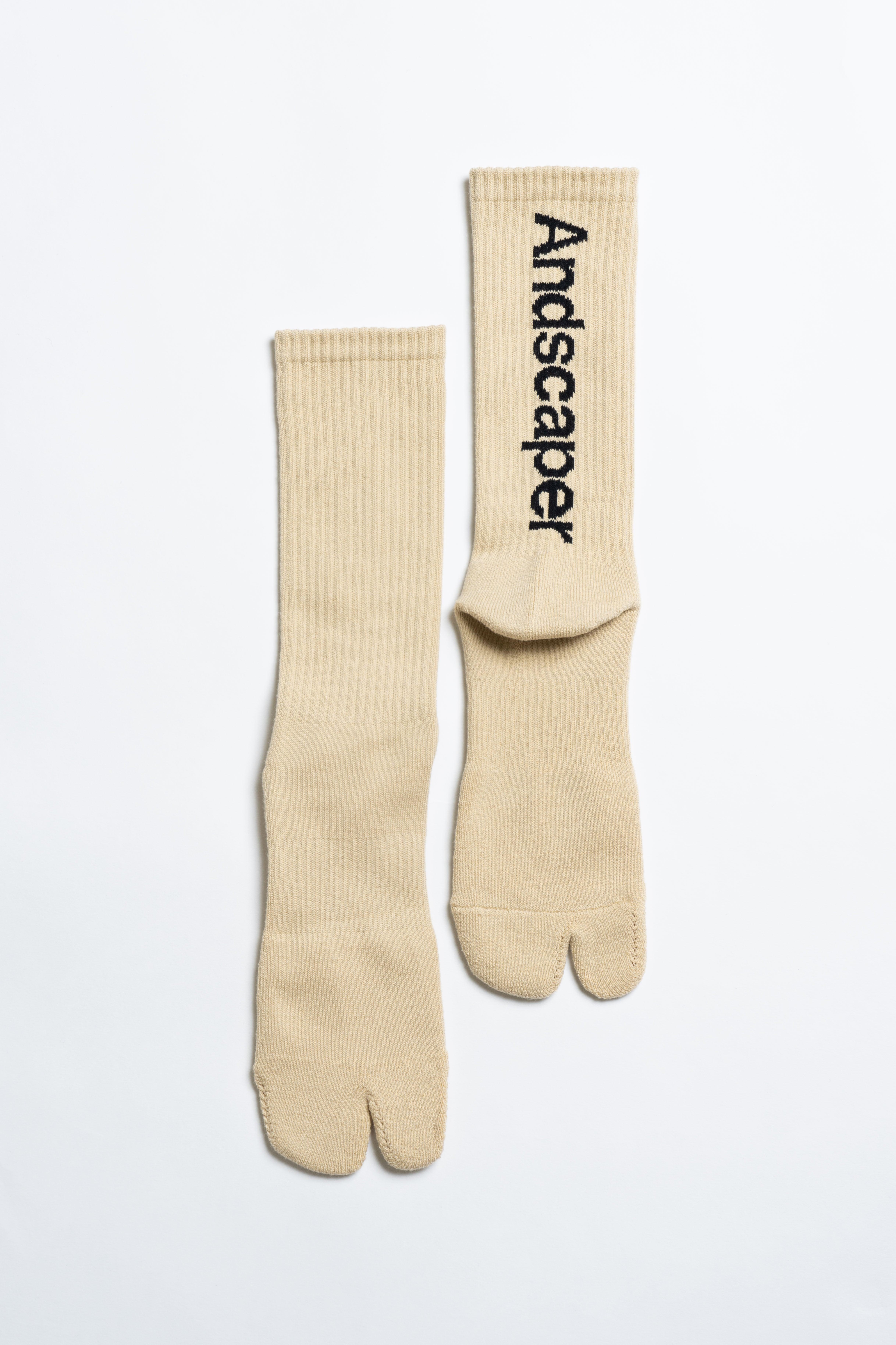 Concept Logo Socks(Oatmeal × Black)