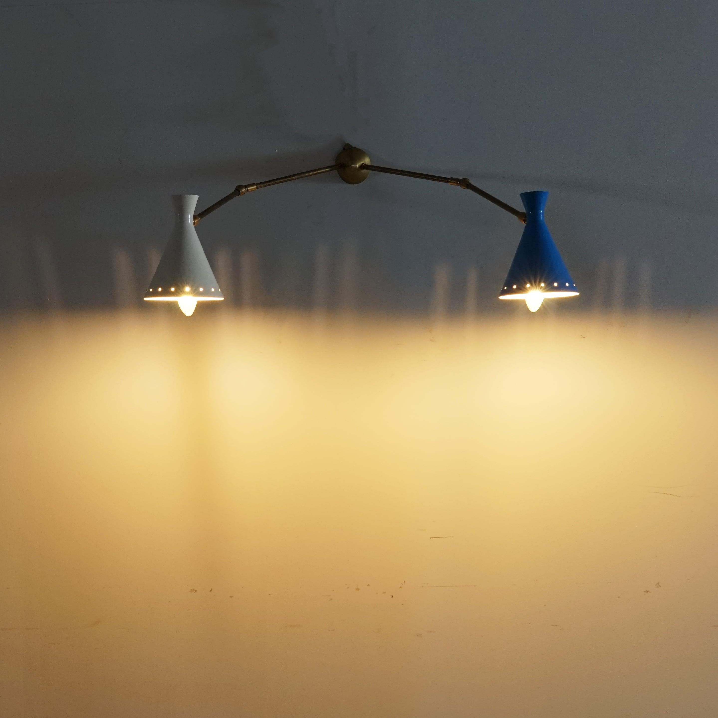 #01-19 stilnovo light cup blue white