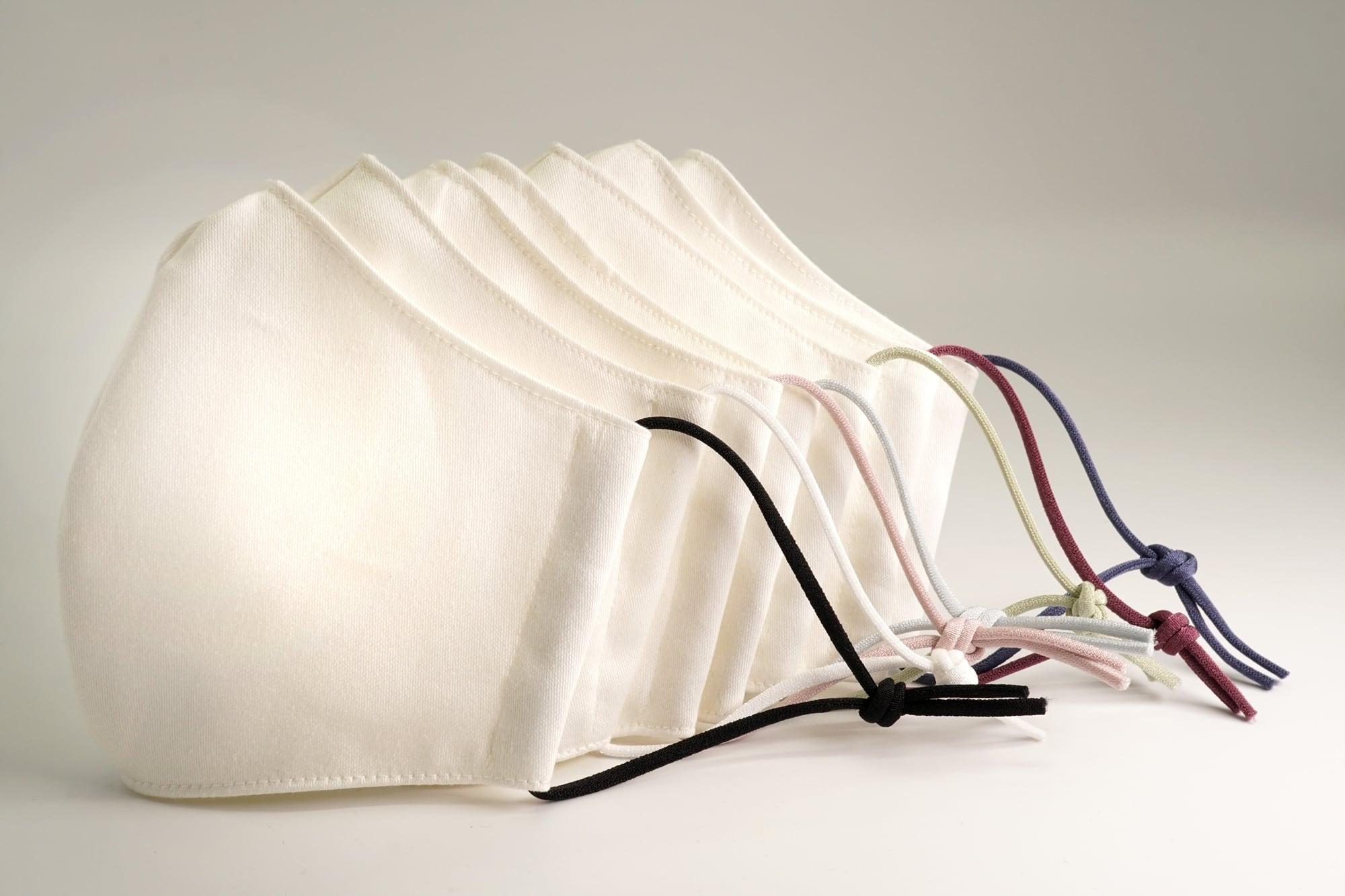 【セール】上品カラーゴム紐の洗える布マスク【選べる7色】