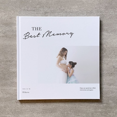 Simple white-MATERNITY_A4スクエア_8ページ/12カット_フォトブック