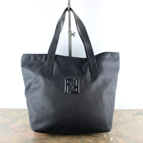 .FENDI ZUCCA LOGO NYLON HAND BAG MADE IN ITALY/フェンディナイロンロゴハンドバッグ2000000056746