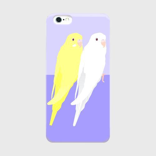 iPhoneケース セキセイインコ アルビノ&ルチノー【各機種対応】