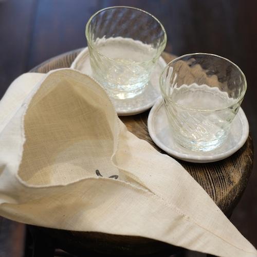 石川硝子工藝舎 lathe 旅ガラスセット(網目猪口2つとコースター等のセット) 石川昌浩