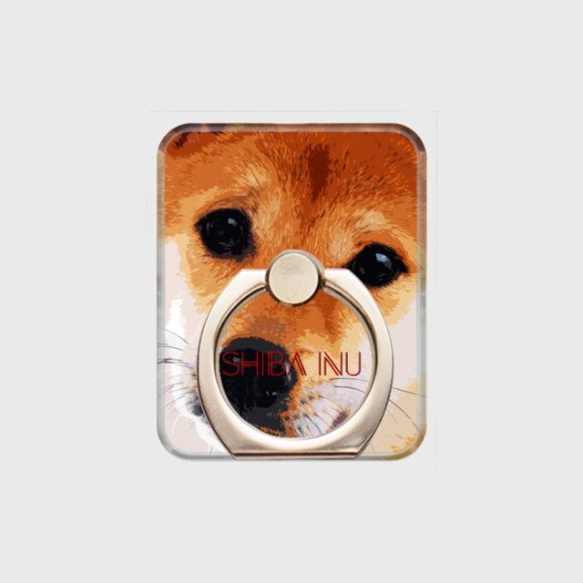 柴犬 おしゃれな犬スマホリング【IMPACT -color- 】