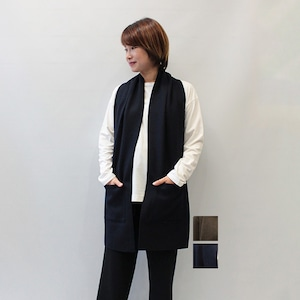RIM.ARK(リムアーク) Stole style vest 2021秋物新作 [送料無料]