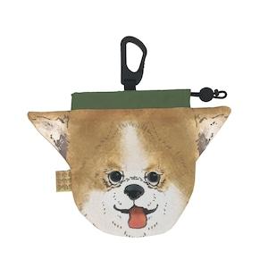 犬のウンチバッグ S 【チワワ】(茶色) 防臭生地 / デオドラント加工布使用