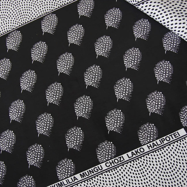 カンガ|モノクローム   ブラック × ホワイト