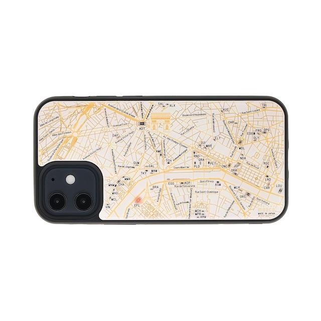 FLASH Paris回路地図 iPhone 12 mini ケース  白【東京回路線図A5クリアファイルをプレゼント】