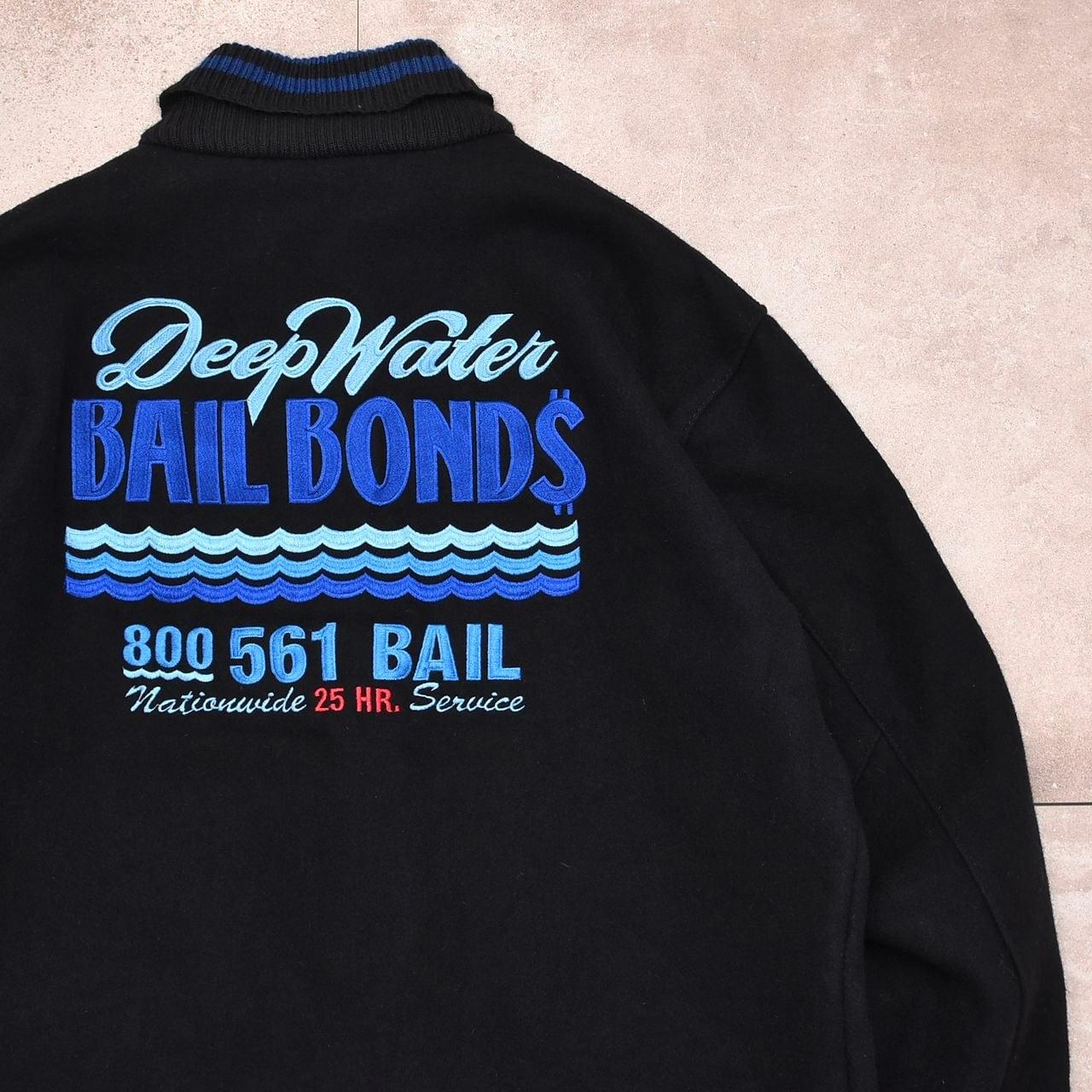 90's Delong black wool award jacket Made in USA