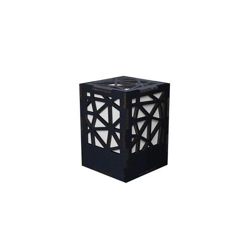ミニ行灯 トライアングル - 置き型照明 Sサイズ ブラック